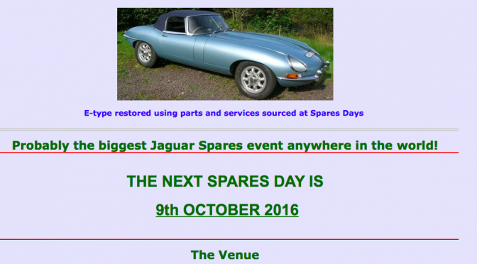 Jaguar Spares Day