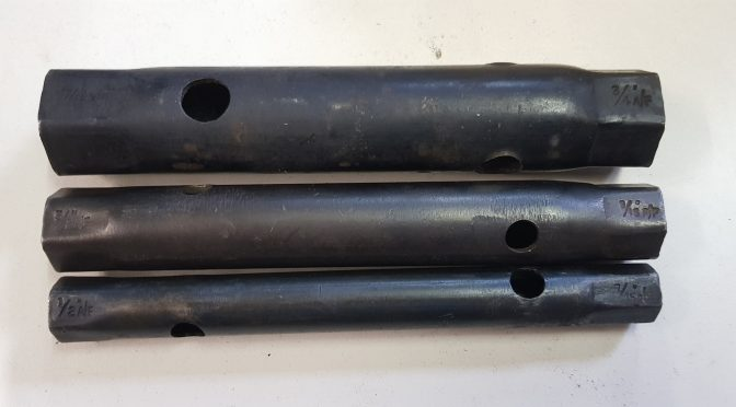 SALE:   Original complete set of 3 nesting box spanners