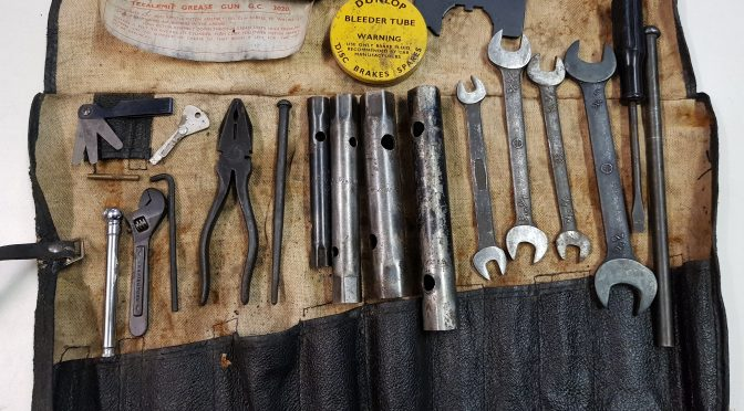 For sale are some original rare collectables, keyfobs, early '61 tool kit, S2 tool kit, Lifting jack