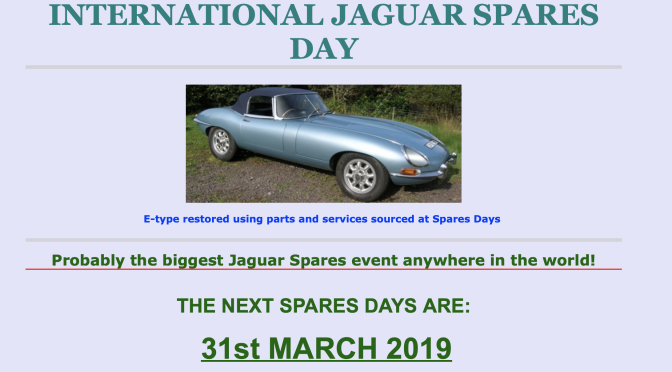 JAGUAR SPARES DAY March 2019